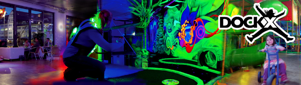 3d schwarzlicht minigolf minigolf am insulaner in berlin. Black Bedroom Furniture Sets. Home Design Ideas